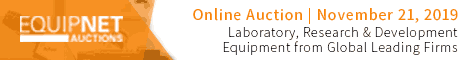 EquipNet Auction:  Laboratory, R&D Equipment from Leading Global Firms! - Nov. 21 @ 9 am EST